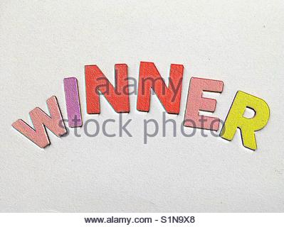 winner (word) - Stock Image