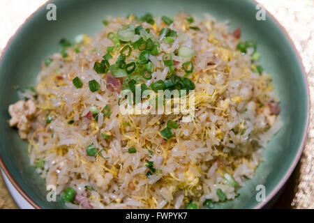 Special fried rice served at one Michelin starred Shang Palace Cantonese restaurant Peninsula Hotel Paris France - Stock Image