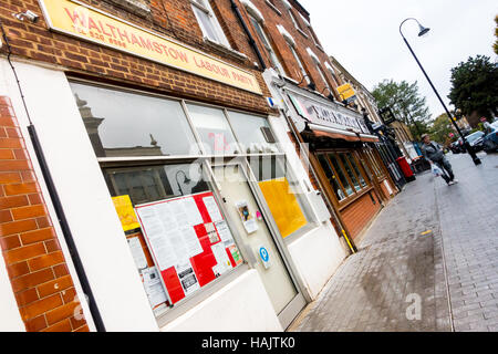 The office of Walthamstow Labour Party in Orford Road, Walthamstow village, Waltham forest, London. - Stock Image