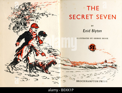 The Secret Seven by Enid Blyton a Hardback book first published in 1949 This Impression 1954 FOR EDITORIAL USE ONLY - Stock Image