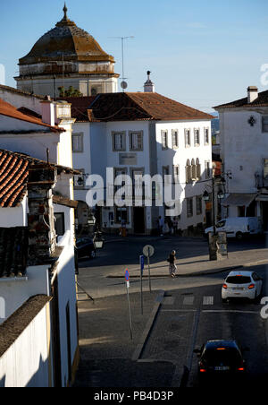 Town square in the wallad city of Evora, Portugal - Stock Image