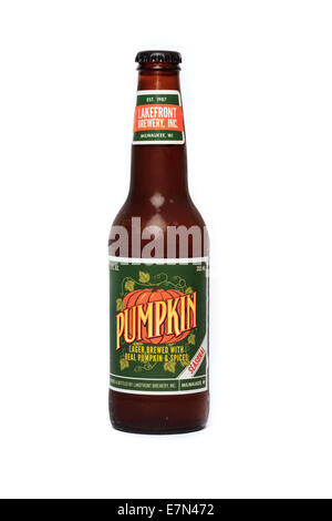Lakefront Brewery bottle of Pumpkin flavored lager - Stock Image