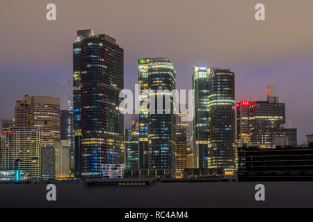 sydney city with clouds in the early morning - Stock Image