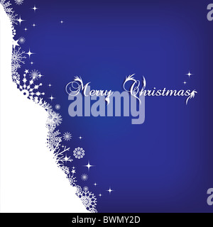 Merry christmas illustration background - Stock Image