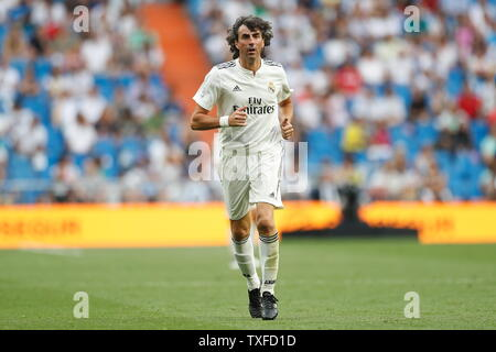 Madrid, Spain. 23rd June, 2019. Jose Emilio Amavisca (Real) Football/Soccer : Friendly 'Corazon Classic Match 2019' between Real Madrid Leyendas 5-4 Chelsea Legends at the Santiago Bernabeu Stadium in Madrid, Spain . Credit: Mutsu Kawamori/AFLO/Alamy Live News - Stock Image