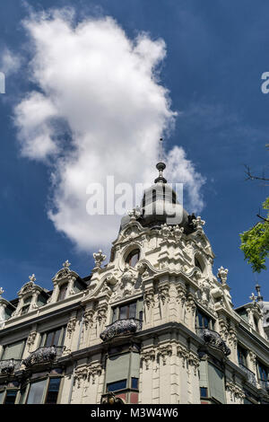 Monopol building, neo baroque architecture, Zurich, switzerland - Stock Image