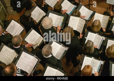 Choir, singers with note sheets, Munich, Germany - Stock Image