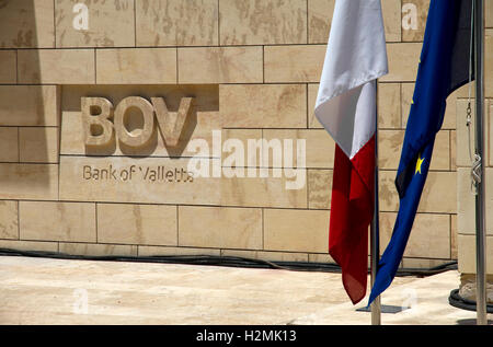 Bank of Valletta, ( new Chairman + Board offices), at House of the Four Winds, Hastings Garden, Valletta, Malta - Stock Image