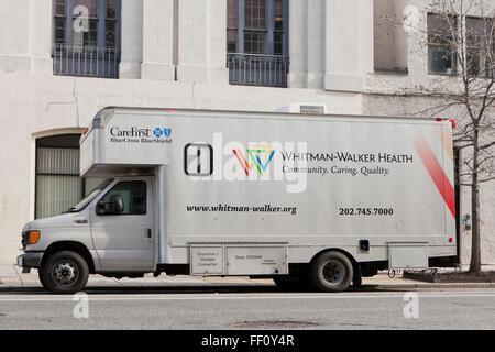 Whitman Walker Health mobile HIV testing van - Washington, DC USA - Stock Image