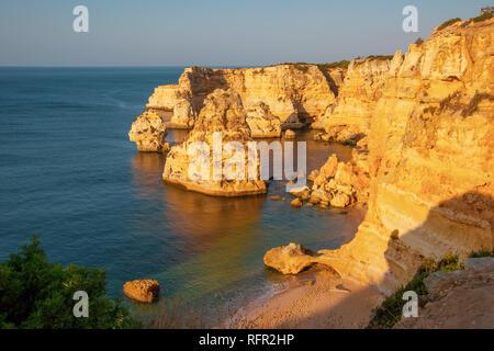 Praia da Marinha, Algarve, Portugal. Seascape - Stock Image