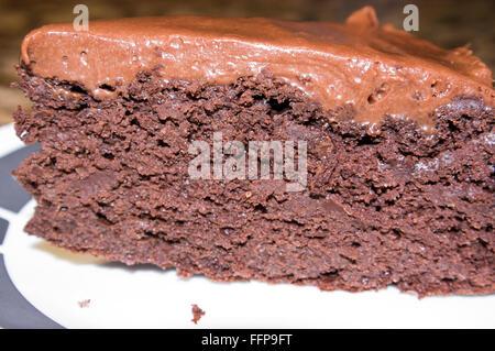 gluten free, quinoa cake, chocolate, healthy - Stock Image