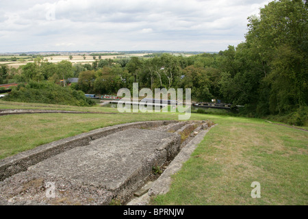 Foxton Locks, Leicestershire, UK.  The Site where the Boat Lift used to be; the Foxton Inclined Plane. - Stock Image