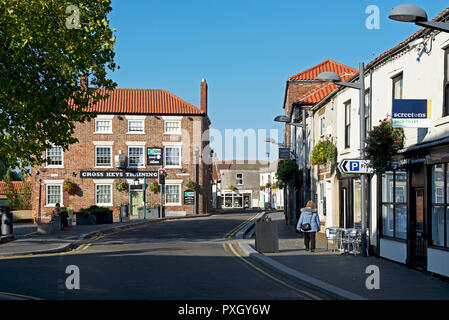 Main street in Crowle, Lincolnshire, England UK - Stock Image