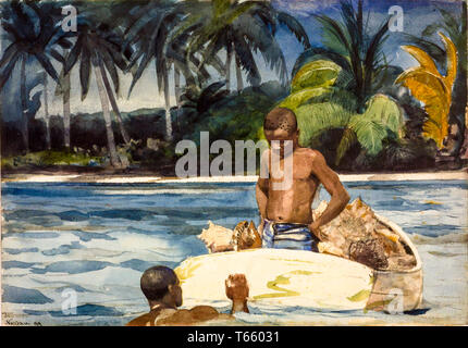 Winslow Homer, West India Divers, painting, 1899 - Stock Image