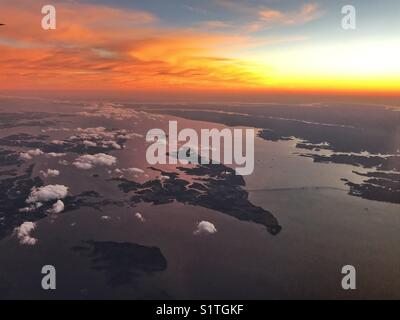 Sunset over Maryland, USA - Stock Image