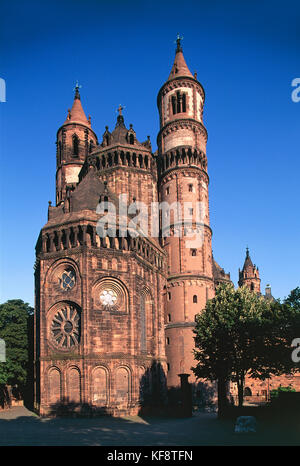 Valley Of The Rhine Worms Cathedral Of St Peter Apse - Stock Image