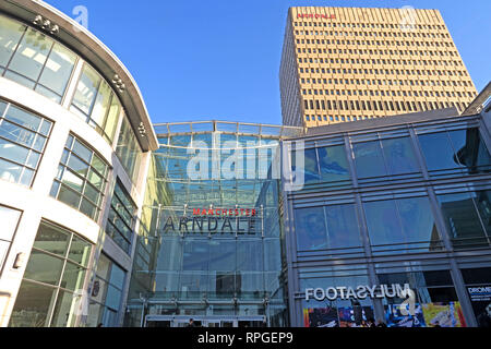 Manchester arndale Shopping Centre, High St, Manchester City Centre, North West England, UK - Stock Image