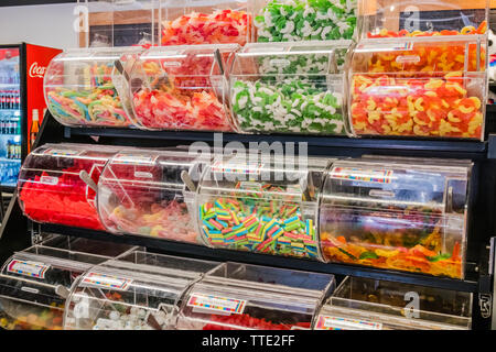 inside a candy store - Stock Image