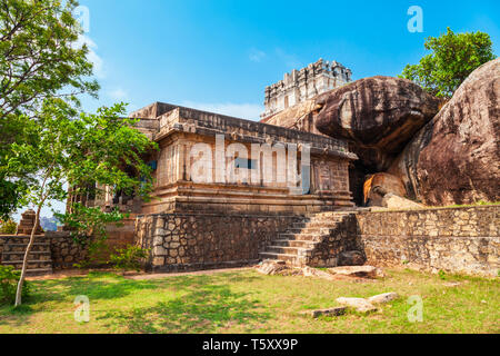 Chitharal Jain Temple or Chitharal Malai Kovil or Bhagwathi Temple near Kanyakumari city in Tamil Nadu in India - Stock Image