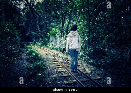 Railway line - Stock Image