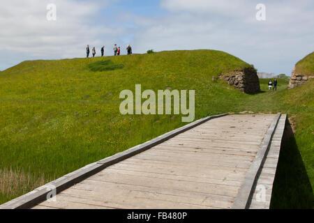 The openair Viking museum at Trelleborg, Slagelse, Zealand, Denmark - Stock Image