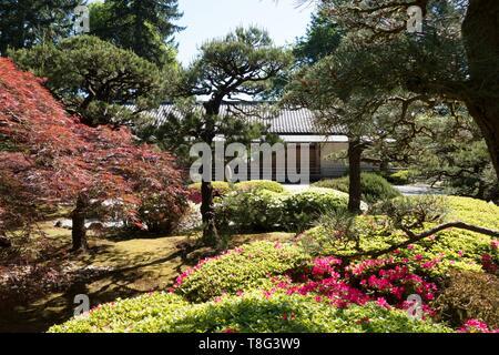 Portland Japanese Garden in Portland, Oregon, USA. - Stock Image