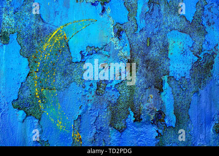 Abstract blue and rust background - Stock Image