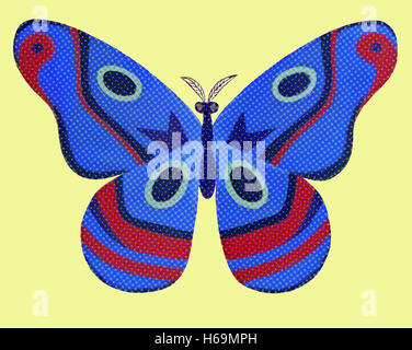 The butterfly image expressed here as symbol of transformation and the spirits through many forms. - Stock Image