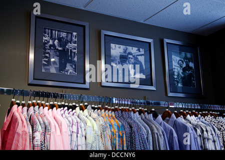 Outfitters to Elvis Presley the Lansky Brothers clothes store in the Peabody Hotel in Memphis Tennessee USA - Stock Image