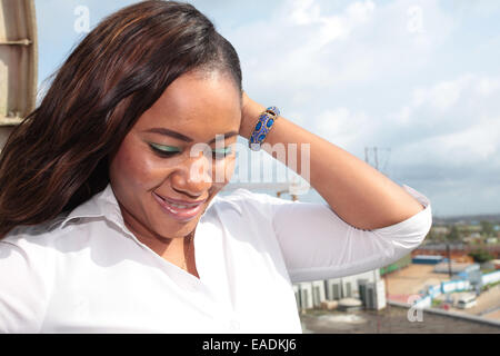 Portrait of a Beautiful Lady - Stock Image