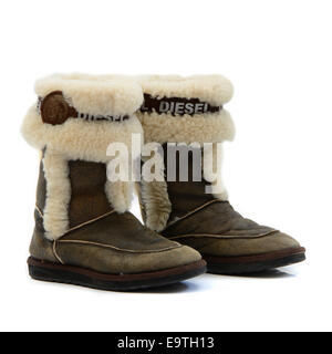 winter woman boots - Stock Image