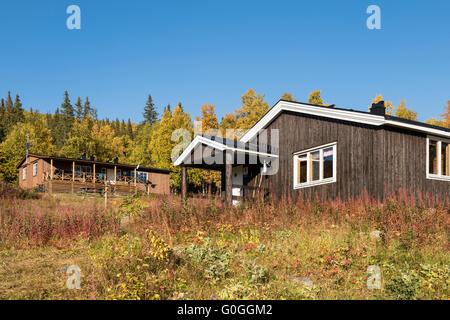 STF Aktse hut, kungsleden trail, Lapland, Sweden - Stock Image