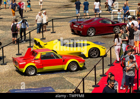 Turin, Piedmont, Italy. 22nd June 2019.Italy Piedmont Turin Valentino Valentino Castle - park Auto Show 2019 - Credit: Realy Easy Star/Alamy Live News - Stock Image