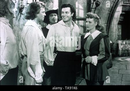 AT SWORD'S POINT (1952)  ALAN HALE JR  DAN O'HERLIHY  CORNEL WILDE  MAUREEN O'HARA  LEWIS ALLAN (DIR)  MOVIESTORE COLLECTION LTD - Stock Image