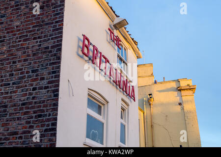 Exterior of Britannia Inn, Boston, Lincolnshire, England - Stock Image