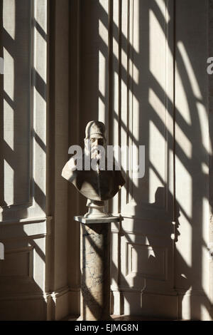 Pope Urban VIII. Marble bust by Gian Lorenzo Bernini in the National Gallery of Ancient Art at Palazzo Barberini, - Stock Image