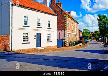 Period Houses, Helperby, North Yorkshire, England - Stock Image