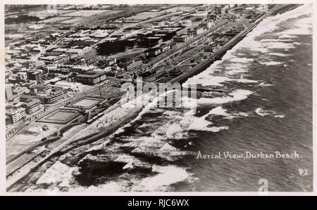 Aerial View of Durban Beach, South Africa. - Stock Image