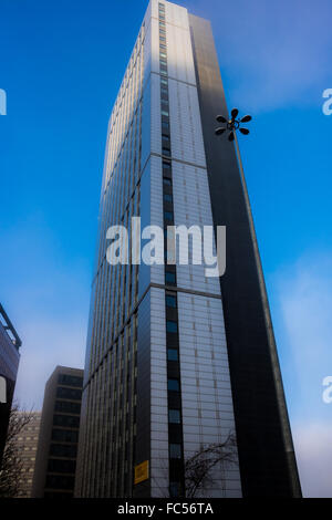 The Plaza - This is a student accommodation building located next to the First Direct Arena in Leeds, United Kingdom - Stock Image