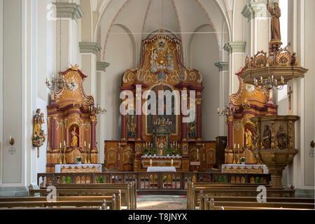 Deutschland, Nordrhein-Westfalen, Werl, Alte Wallfahrtskirche (auch Kapuzinerkirche) Mariä Heimsuchung - Stock Image