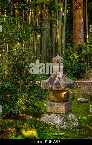 Autumn visit in Sekizan Zen-in Temple, Kyoto, Japan - Stock Image