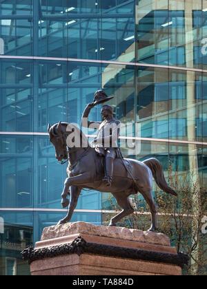 Prince Albert Statue, Holborn Circus, London, UK - Stock Image