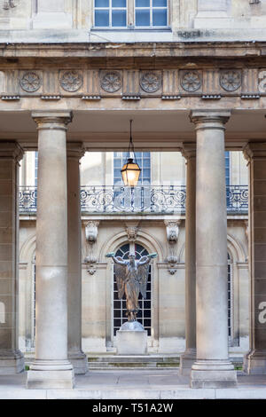 The Victory Allegorical Statue inside courtyard of Hotel Carnavalet - now the Museum of French History, les Marais, Paris France - Stock Image