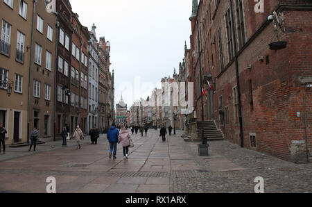 Gdansk Old Town in Winter - Stock Image