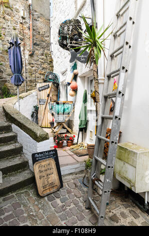 A Cornish Cottage in St Ives, Cornwall, England, UK selling fresh fish. - Stock Image