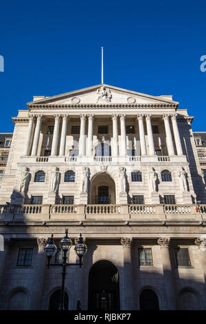 A view of the exterior of The Bank of England - the central bank of the UK, in London, England. - Stock Image