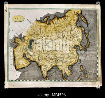 1804 Arrowsmith Map - Asia - Japan China Taiwan India Arabia Mongolia Siberia Iran Iraq Vietnam - Stock Image