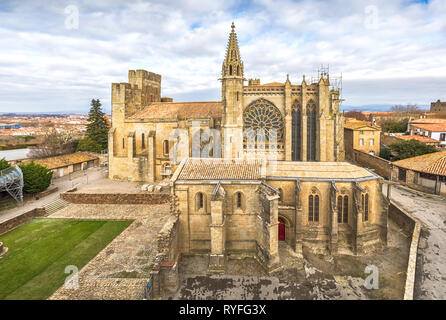 Basilica Saint Nazaire - 12th-century gothic style church in Carcassonne, France - Stock Image