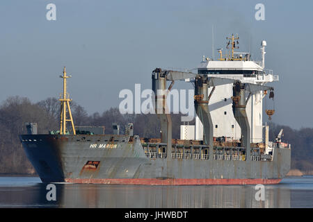 Geared General Cargo Vessel HR Marion - Stock Image