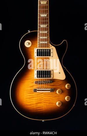 Close-up of an electric guitar - Stock Image